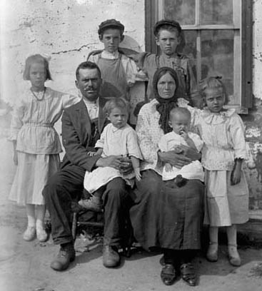 A Russian immigrant family - on farm