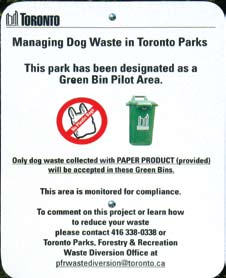 Sign in Toronto park