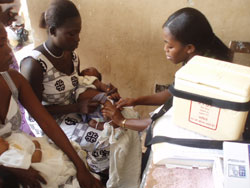immunizing children in Turkana, Kenya