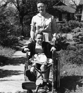 girl in wheelchair with polio