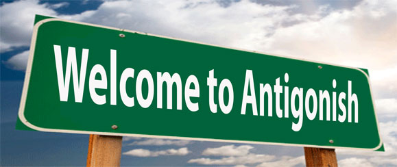 Road sinL welcome to Antigonish