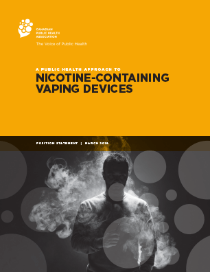 Cover: A Public Health Approach to Nicotine-containing Vaping Devices